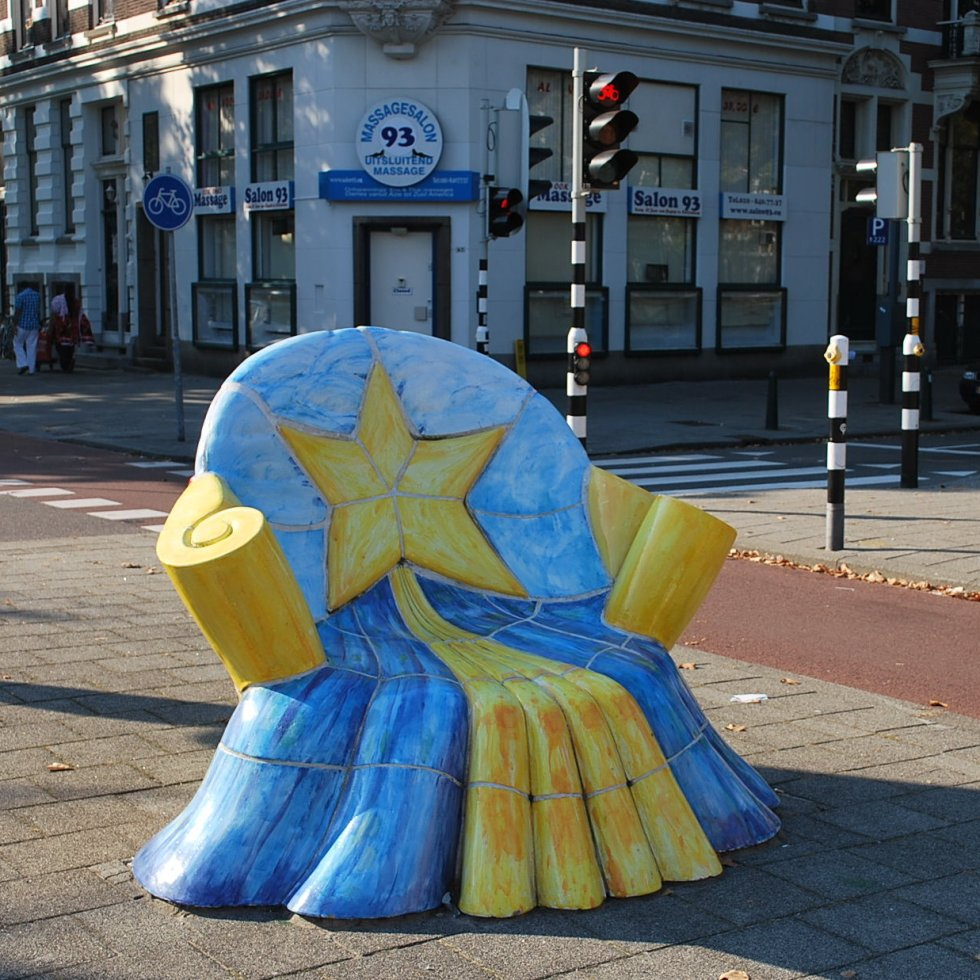Chair sculpture at Mathenesserlaan, Rotterdam