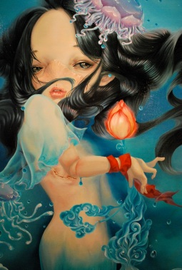 The Birth of Venus by Sun Dongxu 2011, Oil on canvas, 150 x 120 cm (cropped photo)