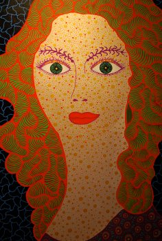 Self-Portrait by Yayoi Kusama 2010, Acrylic on canvas, 145.5 x 112 cm