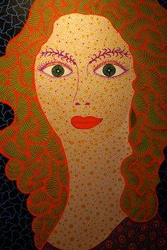Self-Portrait by Yayoi Kusama 2010, Acrylic on canvas, 145.5 x 112 cm