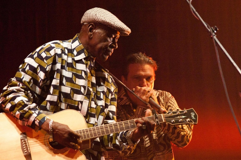 Boubacar Traoré and Vincent Bucher at WOMAD 2012