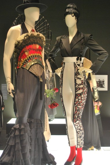 Left: Macho Elegance collection (Spring/summer 1998) Right: Calligraphy collection (Spring/summer 2009)