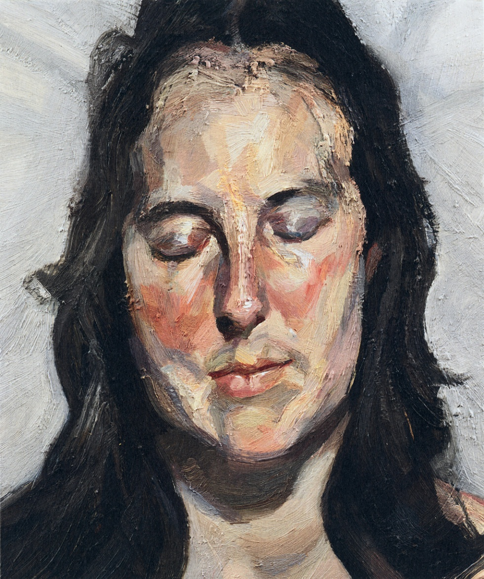 Woman with Eyes Closed by Lucian Freud