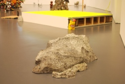 Disappearing (Large) and Disappearing (Small) (Epoxy, styrofoam, salt, paint)